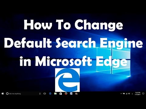 How To Change Default Search Engine in Microsoft Edge