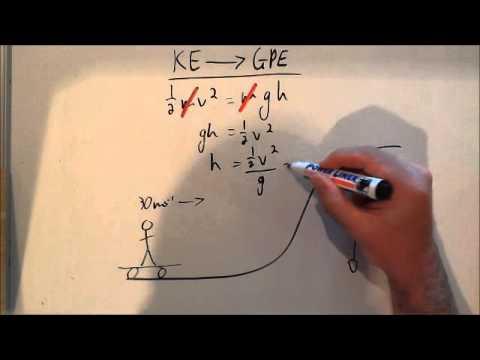 Converting KE to GPE