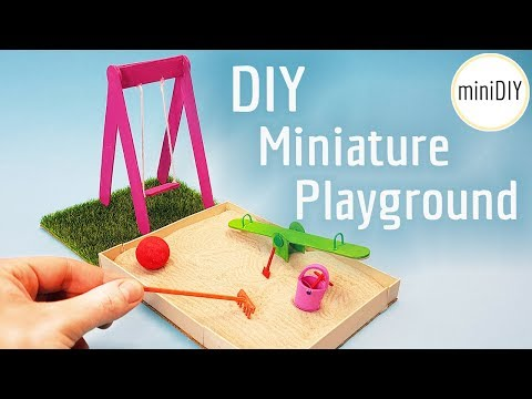DIY Miniature Playground Zen Garden