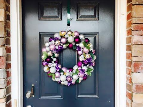 DIY Christmas Ornament Wreath Tutorial|Easy Wreath Tutorial