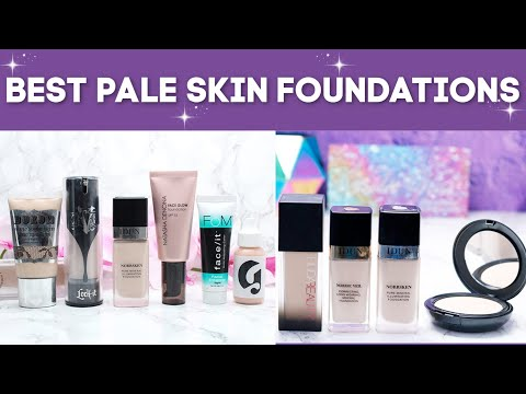 Best Foundations for Fair and Pale Skin - Face Swatches of 49 Foundations | Cruelty Free & Vegan