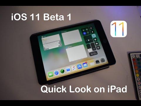 iOS 11 Beta 1 on iPad: Quick Look