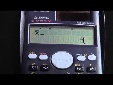 Casio fx300MS Mean-Standard_Deviation-Variance