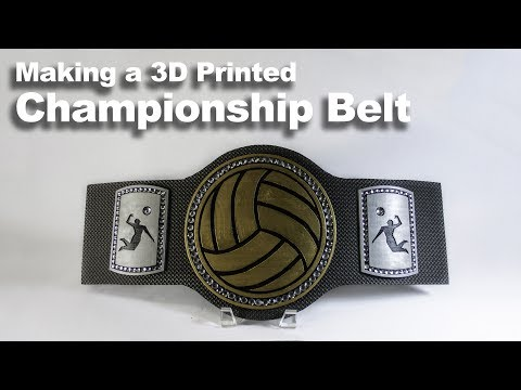 How to Make a 3D Printed Championship Belt - DIY Tutorial