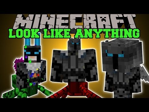 Minecraft: LOOK LIKE ANYTHING! (BECOME MOBS, CUSTOMIZE, ANIMATIONS) More Player Models Mod Showcase