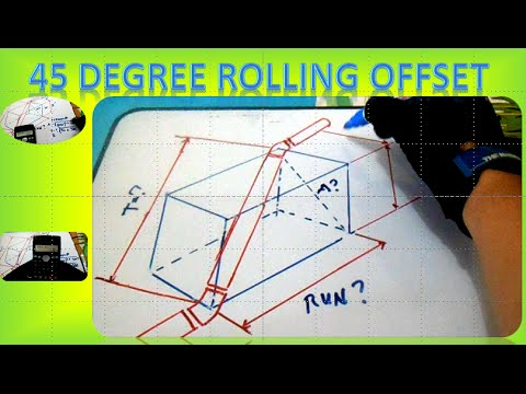 Piping 45 Degree Rolling Offset - How to Find 45 Degree  Rolling Offset