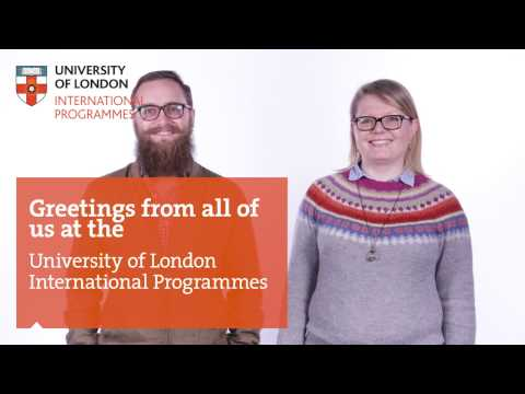 Multilingual greetings from the University of London International Programmes