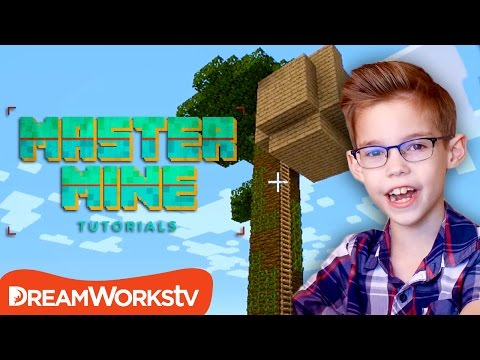 How to Build a Tree House in Minecraft | MASTER MINE TUTORIALS