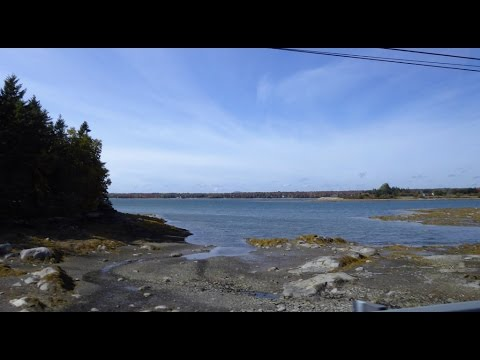 Portland to Bar Harbor, Maine - Scenic Drive, October 2016 Part 2 of 2
