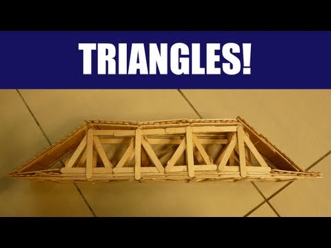 HOW TO Build a Strong Popsicle Stick Truss Bridge with Triangles