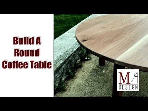 Build a Round Coffee Table // Woodworking How To