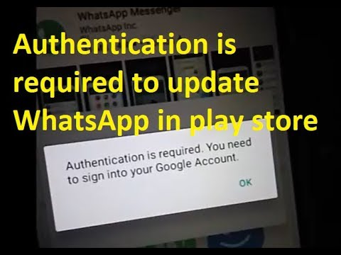 How to fix Authentication is required. You need to sign into your Google Account error in Play Store