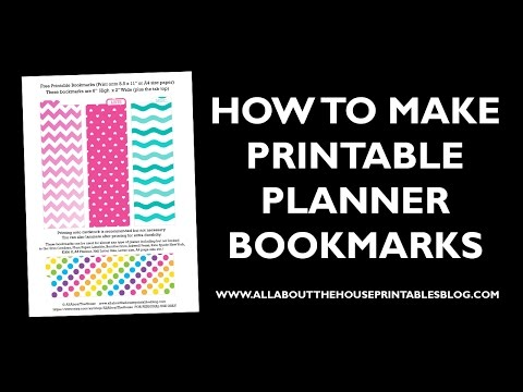 How to make planner bookmarks page divider tabs