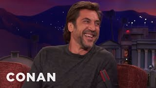 Javier Bardem Doesn't Know Who The Kardashians Are  - CONAN on TBS