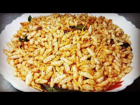 स्वादिस्ट तीखे सेव मुरमुरे सिर्फ २ मिनिट में Tikhe Sev Murmura tikha chivda spicy puffed rice