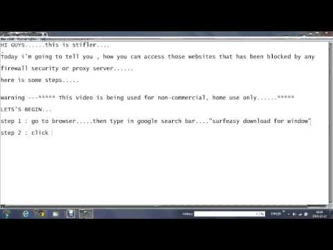 HOW TO ACCESS BLOCKED WEBSITE BY FIREWALL SECURITY OR PROXY