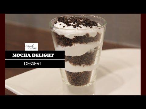 Mocha Delight   How To Make Mocha Delight Recipe   Dessert Recipe   Simply Jain