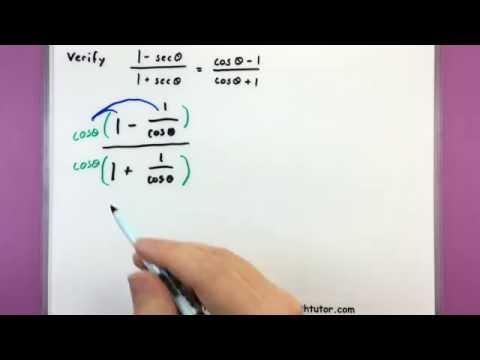 Trigonometry - Proving trig identities