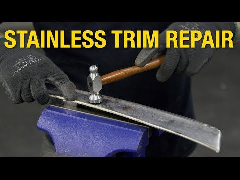 How to Fix Dents on Steel Trim - Stainless Trim Restoration & Repair at Eastwood