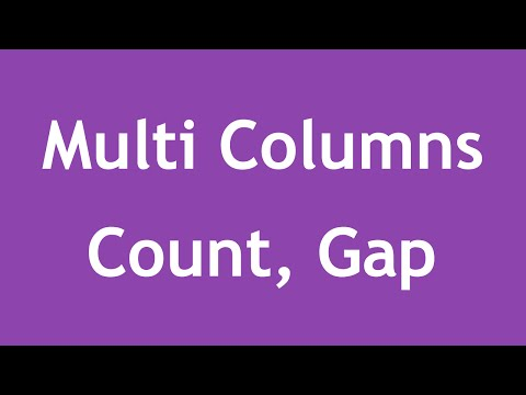 [ Css3 In Arabic ] #36 - Multi Columns - Column Count, Column Gap
