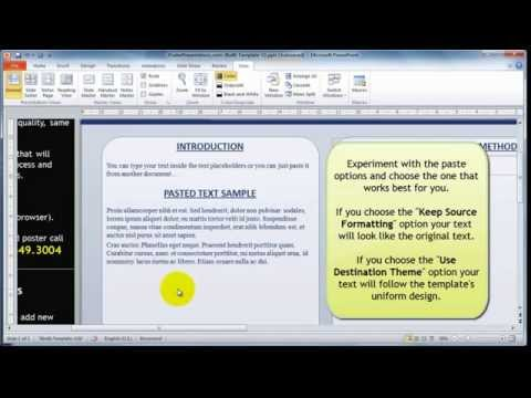 How to add text to the research poster template.mov