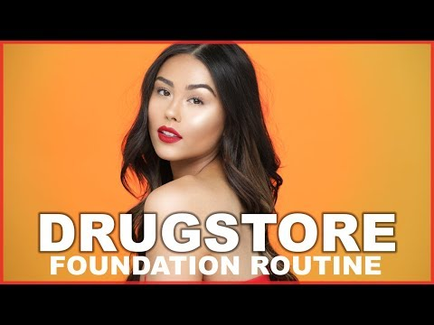 Drugstore Natural Glowy Foundation Routine | Roxette Arisa