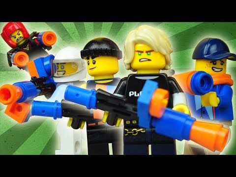 Lego Ninjago Nerf Gun Battle