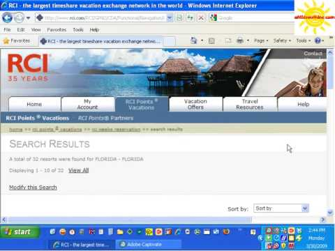 RCI Points Vacations for under 8000 Points Timeshare Secrets from eMidsouth