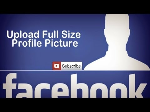 How to Upload Full size profile picture without cropping on Facebook 2017