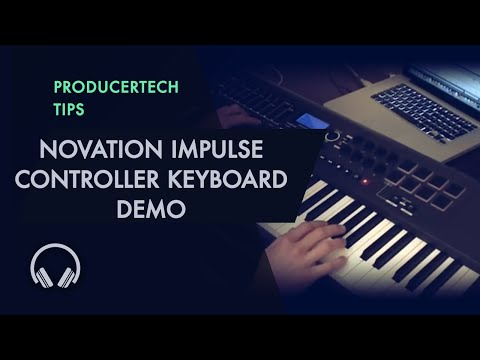 Novation Impulse Controller Keyboard Demo - Making Jazz Drum and Bass in Ableton Live