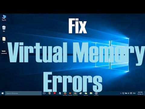 How to fix virtual memory errors in Windows 10