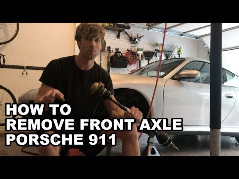 HOW TO Remove front axle Porsche 911 996 C4S / C4 / Turbo
