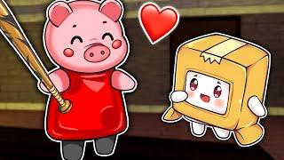 BOXY & PIGGY Become FRIENDS!? (LankyBox World Roblox Animation)