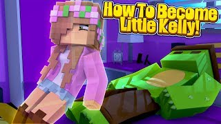 TINYTURTLE TURNS INTO LITTLE KELLY! - Minecraft