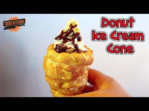 Donut Ice Cream Cone Recipe - How to Video
