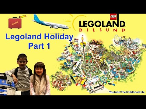 Legoland Holiday Family Fun Part 1- Air Flights & Fun Toys in the Airport, Legoland Hotel Room