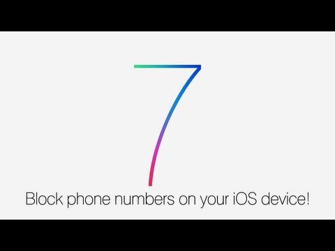 How To Block Phone Numbers on iOS 7