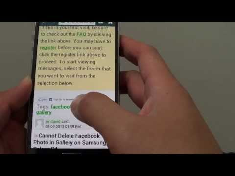 Samsung Galaxy S4: How to Change Internet Web Page Font Size (Increase/Decrease Text Size)