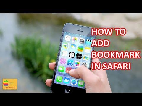 How to add bookmark in safari