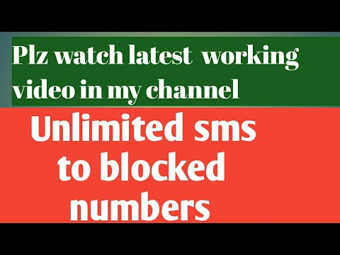 Send free SMS even to persons who blocked you