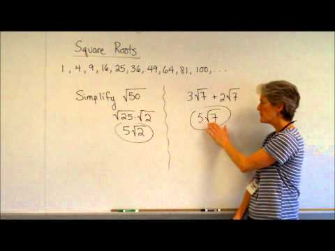 algebra square roots add subtract multiply divide