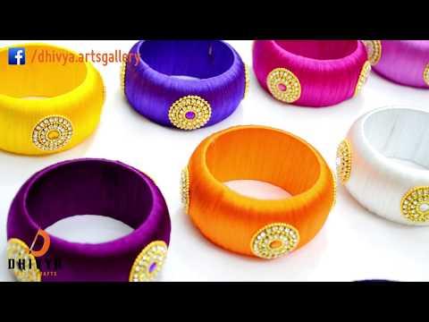How To Make silk thread Designer Bangles at Home | silk thread Jewelry Making | DIY