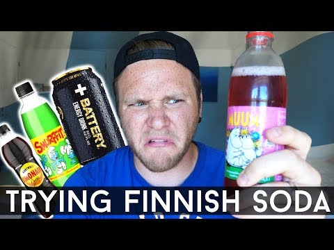 TRYING FINNISH SODA AND ENERGY DRINKS
