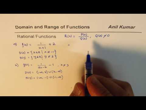 Domain and Range of Rational Reciprocal Functions