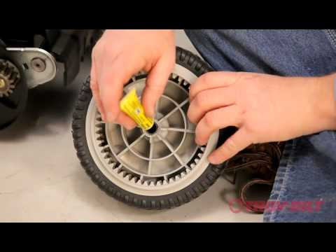 How to replace the wheel | Troy-Bilt walk-behind lawn mower