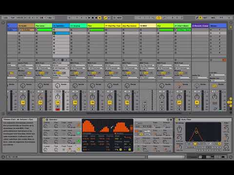 Tout sur Ableton - Composer une track Psy-trance      - Ambiance     [Tuto]