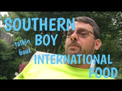 a southern boy talks about international food (oh and winner announce)