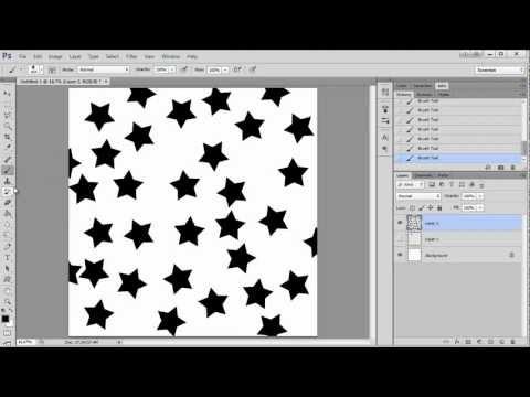 Using A Random Brush Tilt For Pattern Making