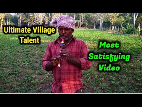 Most Satisfying Video In The World 2018 - Amazing Indian Village Farmer Singing Songs With Flute