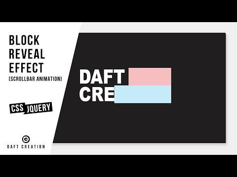 Block Reveal Effect | Scrollbar Animation | CSS - JQUERY Tutorial